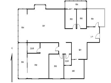 南湖中祥大厦,业主自住精装四房,户型方正全明,带入户、带露台
