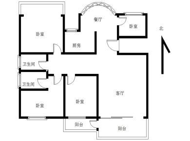 !国建高品质东渡优山美地。正规大4房精装。全明、双阳台