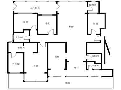 五缘湾 双十对面 水晶名苑 中庭4房 适合居家
