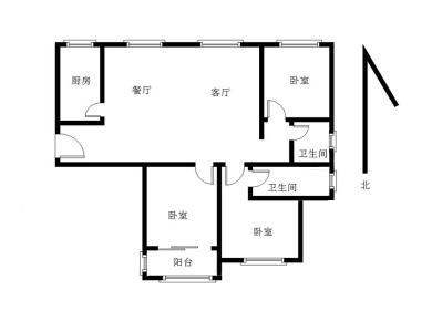 特房山水新座 精装修三房 户型方正 南北通透 满两年