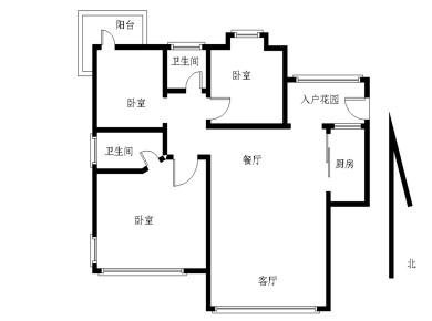 送入户精装大三房产权满五唯一省税费  南北通透 双阳台