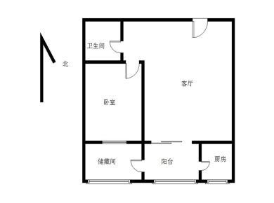 海沧旁龙池华坤正规一房一厅,朝南带露台,可改两房,使用面积大