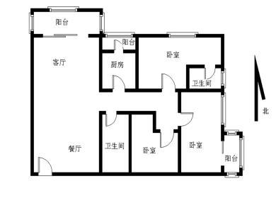 超大三房 厅带阳台 高层 视野和光线都非常充足 看房有锁