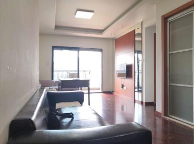 万科金域二期2房,房东二次精装,客厅和两卧室全朝南,2号地铁