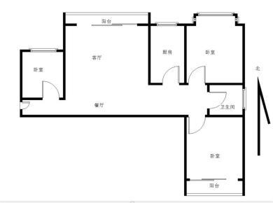 高层 精装三房 南北通风,家具电齐全,看房方便 随时约