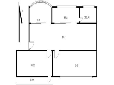 精装2加1房 居家楼层 南北通透