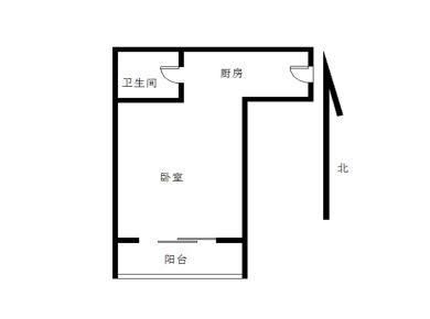 1号线出口 松柏1房可改2房稀有户型朝南 低首付低总价业