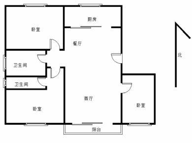 东方山庄别墅3期,东芳花园户型方正,南北通透,最佳楼层,精装