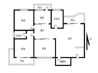 白鹭洲,繁荣广场,电梯直达,南北通透3房,可以改四房