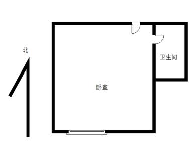 莲前 瑞景商业广场1居电梯 朝南户型采光好 出行交通便利