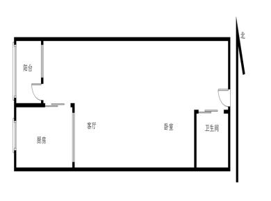 富山美迪斯电梯高层1房可改两房带大阳台