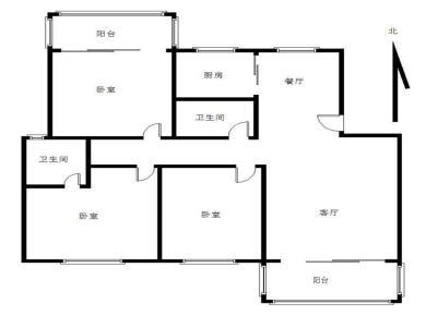 湖明丽景 南北通透  三房可以改4房的格局 槟榔学区
