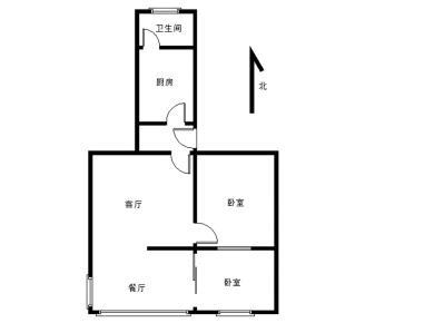 正规1房改2房屋,户型方正南北通透