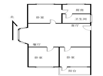 地铁旁莲花空户实验二小,中等楼层3房,可以改4房,户型方正