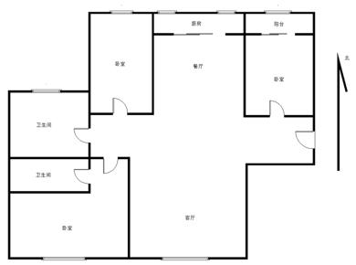厦门院子全明格局南北通透正地铁口三房两厅