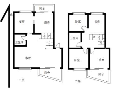 滨北 2000年花园式小区 业主自住楼中楼 动静分离 产权满