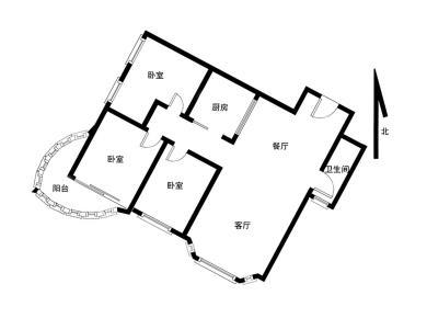 新华城 大三房 弧形阳台 住家精装修 实验小学
