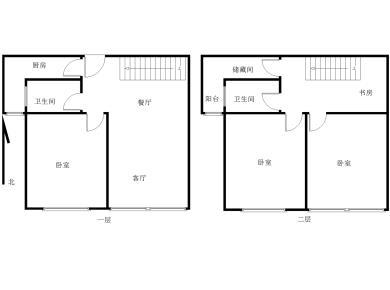 汇景新城一期楼中楼,三室全朝南,近外国语