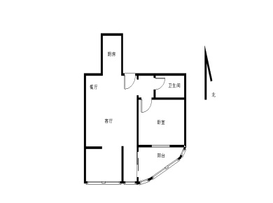 锦绣两房,南北通透,送大阳台