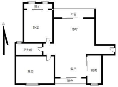 圣,地亚哥电梯高层,居家南北通透两房可改三房,三阳台