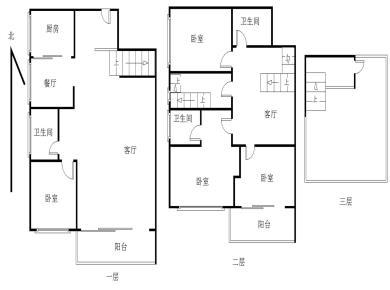 送露台实验二小幸福生活楼中楼4室3厅192.28平南北