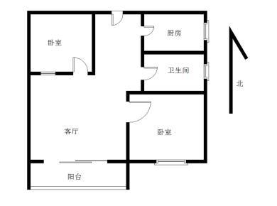 五缘湾旁 精装两房 朝南结构 方正户型