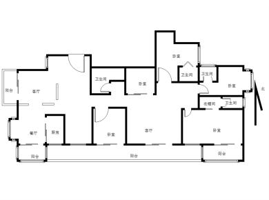 南湖中祥大厦 5室3厅
