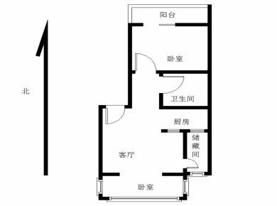 莲坂新村一期 精装两房 南北户型 带储物间