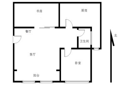 满两年,无按揭,自住装修,首开花郡,改好两房,厨房有倒板,厅带阳台,无空间浪费