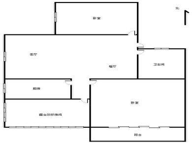 满2年,古楼南里,居家两房,送15平露台,已搭盖,西南朝向