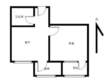 BRT旁 莲坂商圈 04年小区 阳光百合 正规朝南一房一厅
