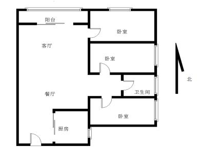 海沧万科城一期  3室2厅1卫1厨1阳台  前无遮挡