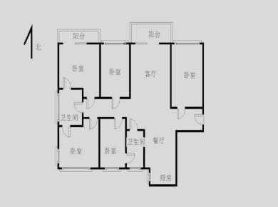 枋湖 禹洲城上城  高楼层 正规5房 三面采光  产权满2年