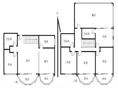 福津大街二节点 使用面积大 5房 顶楼的楼中楼 送露台