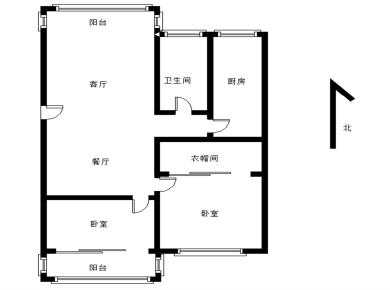 怡富花园  两房两厅  南北通透全明格局  满五唯一