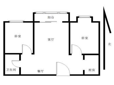 环东海域禹洲大学城南北通透,精装两房,拎包入住