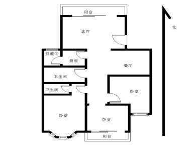 中港花园,优质大三房,小区中庭