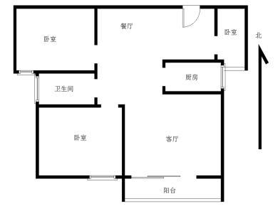 水岸新城毛坯房 中间楼层小三房房 业主稳定诚心出售