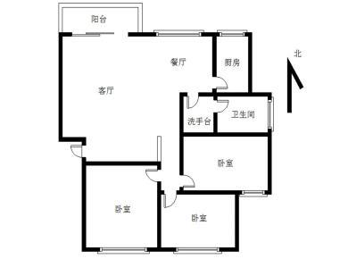 瑞景,华林紫薇,中间楼层三房,南北通透。