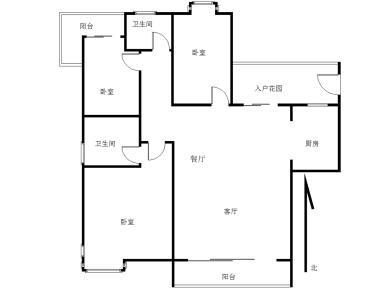 锦绣祥安 110平大三房 四面看中庭 南北通透 随时看房满二
