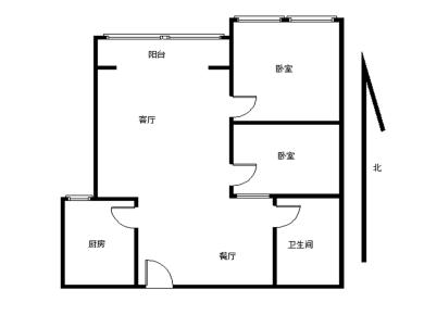 51平改的小两房,装修比较好