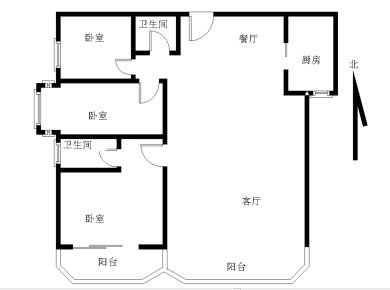 瑞景商圈 福满山庄 电梯高层 客厅、主卧带阳台朝南 正看中庭