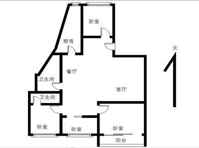 实验二小 万寿新城,南北通透,2004年小区,4房,满2年