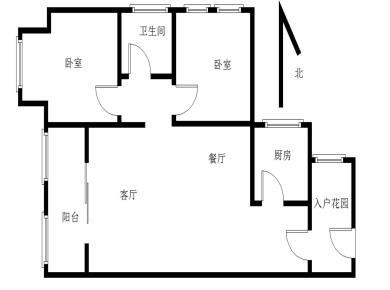 泰禾红门,精装两房,采光充足,视野开阔,交通便利