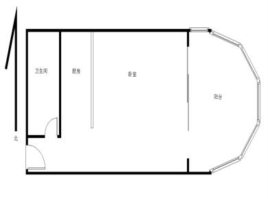新港龙花园1房 小区门口有地铁1号线莲花路口站 直上松柏中学