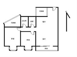 聚镇 毛坯2+1房 赠送15平方 位置安静 采光好 可看房