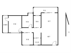 大学康城一期新装 格局方正 三房送一房 采光极好 视野空旷