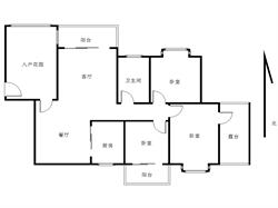 大学康城一期 精装修三房 产权满两年 赠送面积20多平