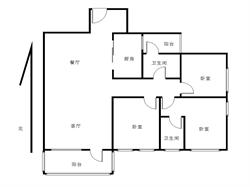万科金域华府精装三房,两卫两阳台,朝南格局方正,产权满两年