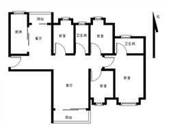 中海锦城国际 南北通透 户型方正 精装四房